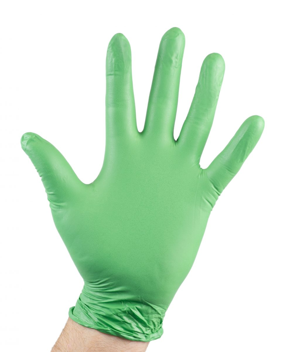Biodegradable Gloves 100 Pack - Green-443