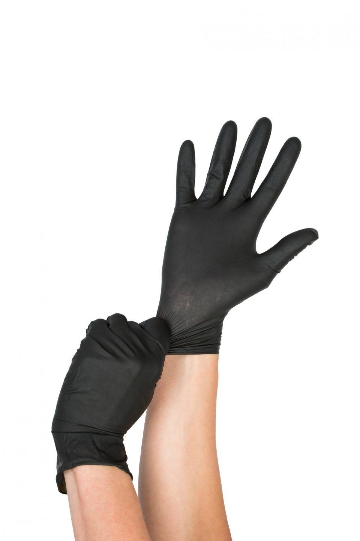 Biodegradable Gloves 100 Pack - Black-445