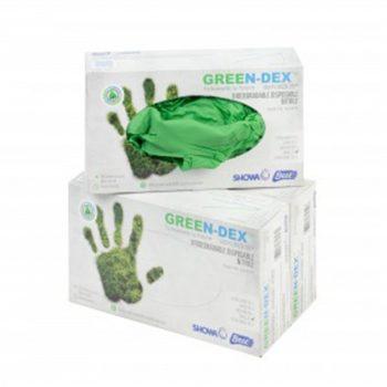Biodegradable Gloves 100 Pack - Green-0