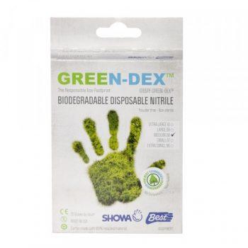 Biodegradable Gloves 20 Pack - Green-0
